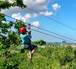 Kids LOVE ziplining!