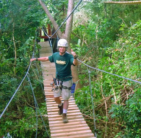 6 hanging canopy bridges
