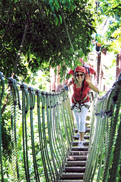 Crossing enjoyable canopy bridges!