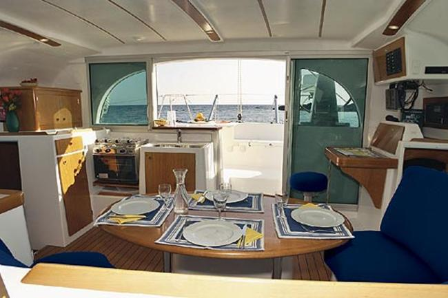 The galley offers great amenities.