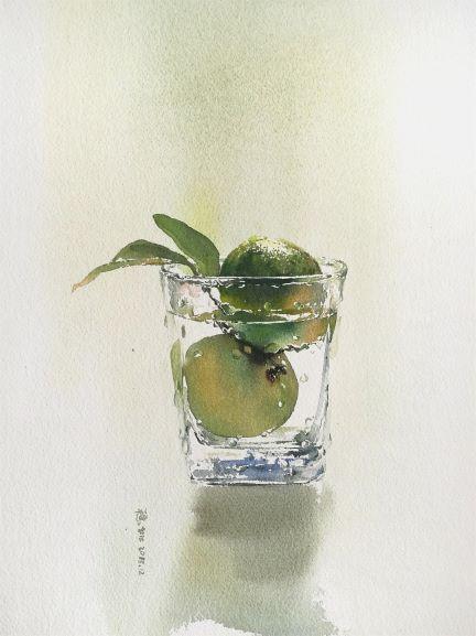 Water · Fruit - Green Orange