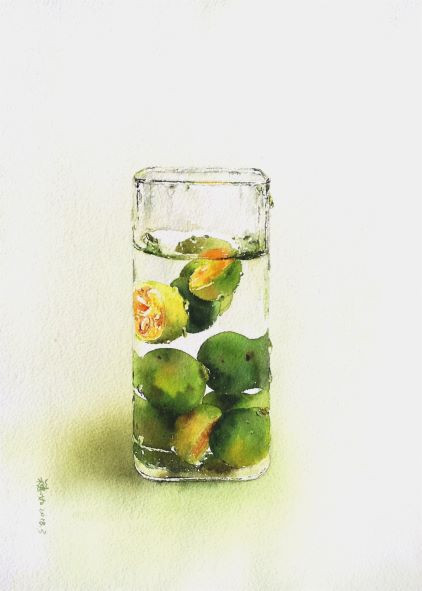 Water · Fruit - Lime
