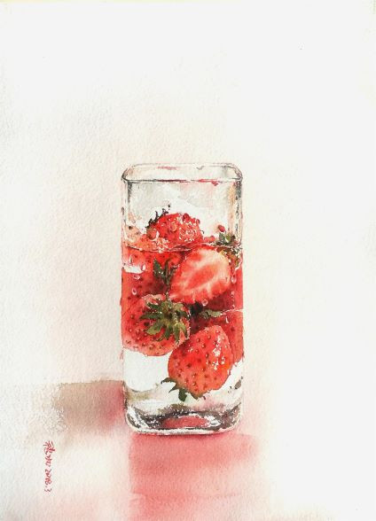 Water · Fruit - Strawberry