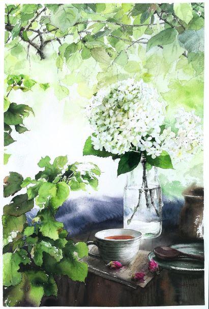 White Hydrangea & Rose Tea