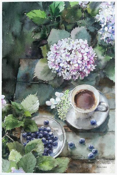 Hydrangea & Blueberry