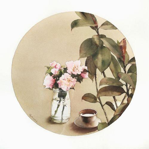 Camellia & Ficus Leaves