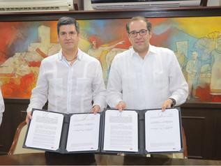 Firma Gobernador convenio para prevenir delitos electorales y para blindar elecciones