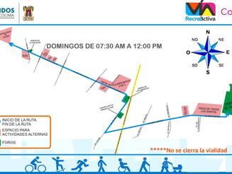 Anuncian la Vía RecreActiva en Colima para iniciar este 18 de marzo