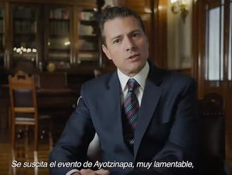 Peña Nieto habla sobre Ayotzinapa