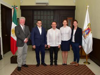 Delegación de Galati, visitantes distinguidos en Colima