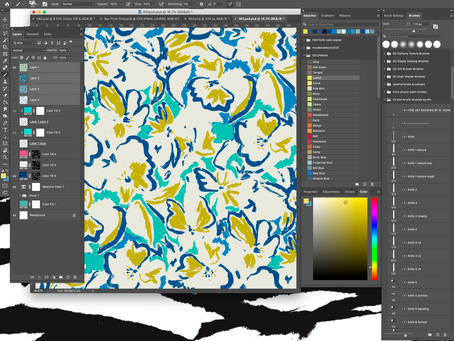 Sharing is caring: How I use photoshop for textile design and why I love to share this knowledge