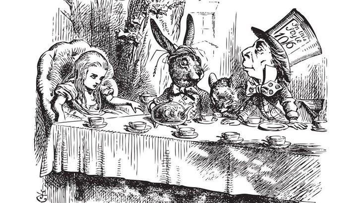 Mad Hatter Illustration Sir by John Tenniel, 1865.