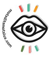 logo mots dits mots lus badge