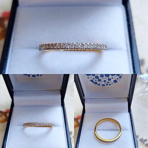 9k Gold Si Diamond Full Eternity ring.