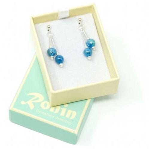 Ronin Gemstone Drop Earrings Folklore Agate Shimmer