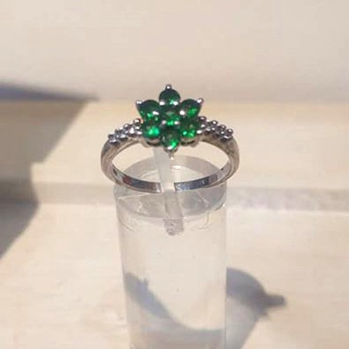 Tsavorite Garnet Sterling Silver ring