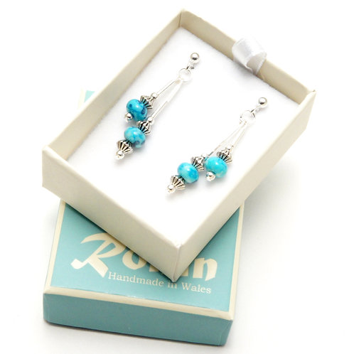 Ronin Gemstone Drop Earring Parasol Turquoise Jade