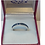 Sapphire Blue Eternity ring set in Sterling Silver in box