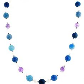 """Ronin Gemstone 18"""" Necklace Daydream with Agate and Glass Beads"""