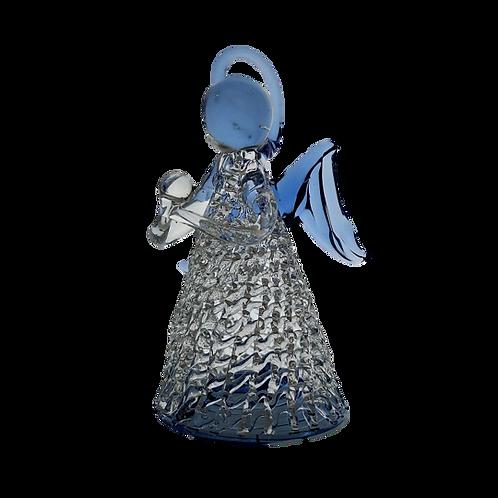 Lampwork Glass Guardian Angel - Blue