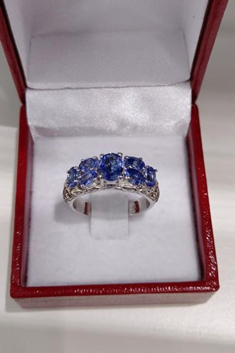 2.65 carat Tanzanite Sterling Silver ring