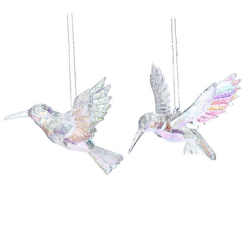 Gisela Graham Acrylic Hummingbirds Hanging Dec