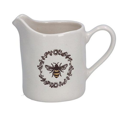 Gisela Graham Embossed Honey Bee China Creamer Jug
