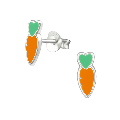 Sterling Silver Carrot Studs earrings 4 x 10 mm