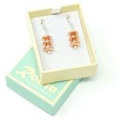Ronin Gemstone Drop Earrings Constellation Rose Gold Haematite