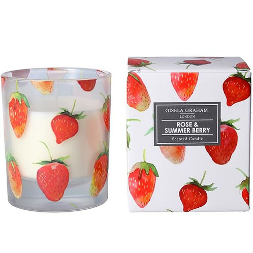 Gisela Graham Boxed Candle - Rose & Summer Berry