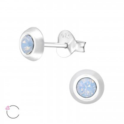 SWAROVSKI® Crystal 5 mm Sterling Silver Studs