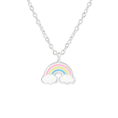 Sterling Silver Rainbow pendant and chain