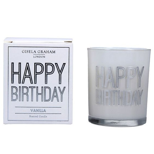 Gisela Graham Boxed Sentiment Votive Candle - Birthday