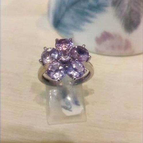 Rose de France Flower Inspired Sterling Silver ring