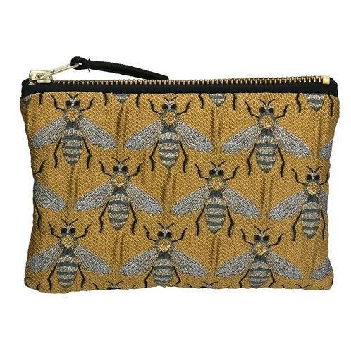 Gisela Graham Gold Bee Jaquard Purse/Cosmetic Bag
