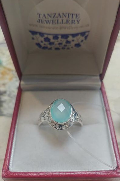 Calcedony Sterling Silver ring