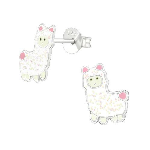 Sterling Silver Alpaca stud earrings 7 x 10 mm