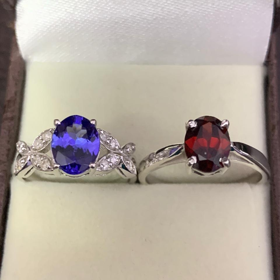 Tanzanite and Garnet