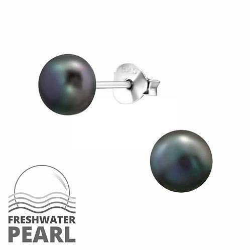 Sterling Silver Pearl Grape stud earrings 6 mm
