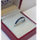 Sapphire Blue Eternity ring set in Sterling Silver side on