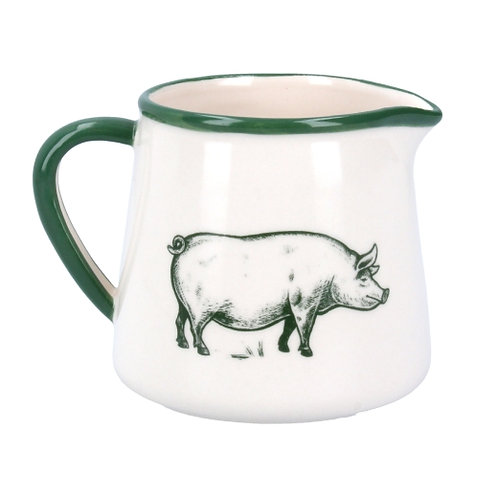 Gisela Graham small farmyard jug with pig for milk or cream