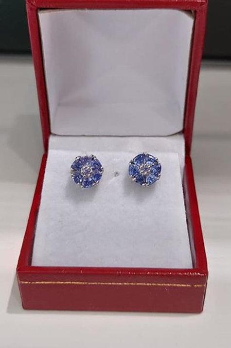 Tanzanite 1.22 ct Sterling Silver Earrings