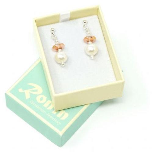 Ronin Gemstone Drop Earrings Constellation Pearls & Haematite