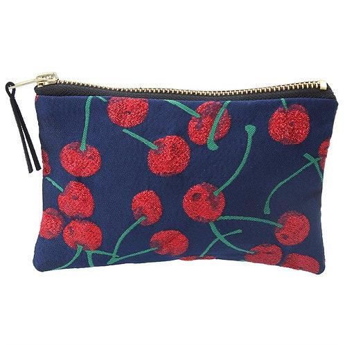 Gisela Graham Cherry Jaquard Purse/Cosmetic Bag