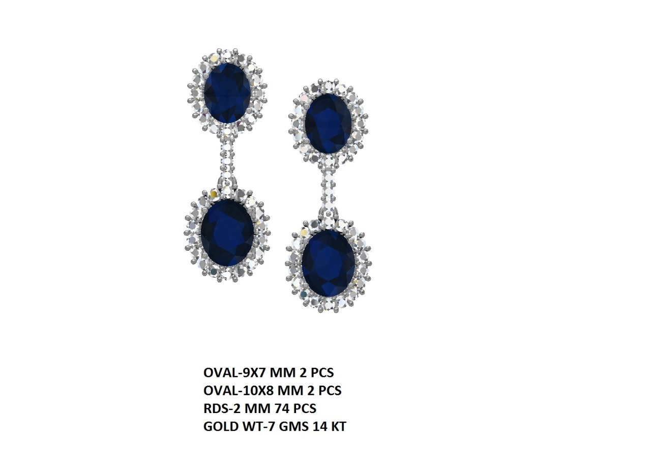 Tanzanite and Diamond earrings1