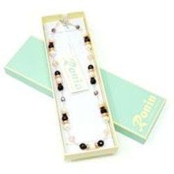 "Ronin Gemstone 18"" Necklace Constellation Agate & Beads"