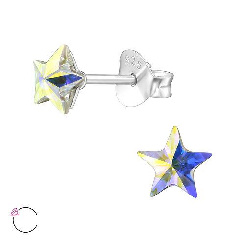 SWAROVSKI® Sterling Silver Star Stud earrings 5 x 5 mm