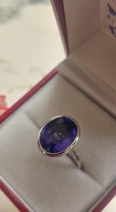 5.65 Carat Tanzanite Gold Ring