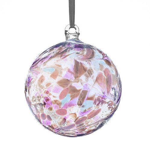 Friendship Ball 10 cm Pearl Glass