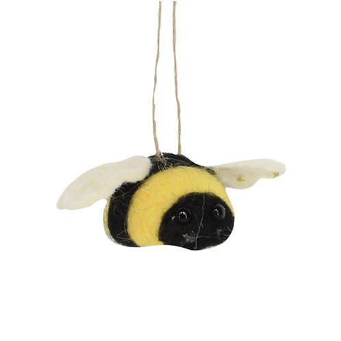 Gisela Graham felted hanging bumble bees decoration